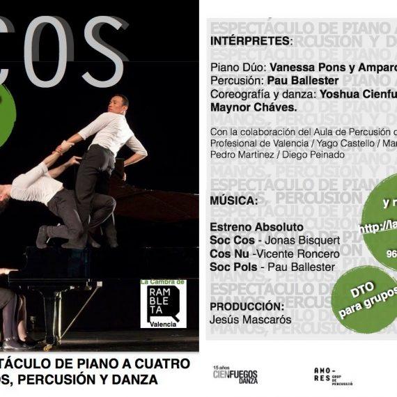 COS. Dos bailares, dos pianistas y percusión