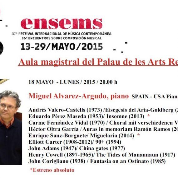 """Héctor Oltra García – Estreno de """"Auras in memoriam Ramón Ramos"""". XXXVII Festival ENSEMS Valencia"""