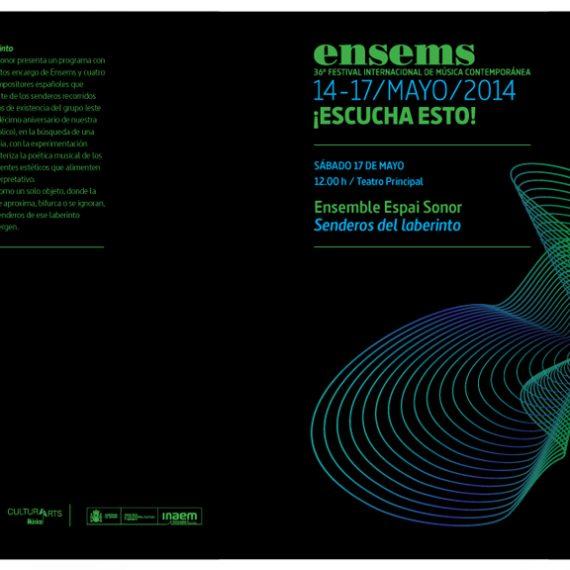 36ª Edición del Festival Ensems.- Ensemble Espai Sonor