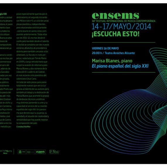 36ª Edición del Festival Ensems.- Marisa Blanes