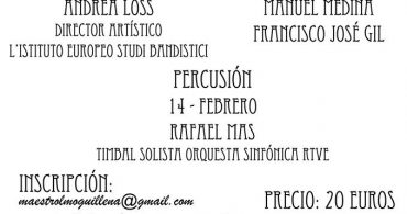 Masterclass de Percusión con Rafael Mas en Guillena (Sevilla)