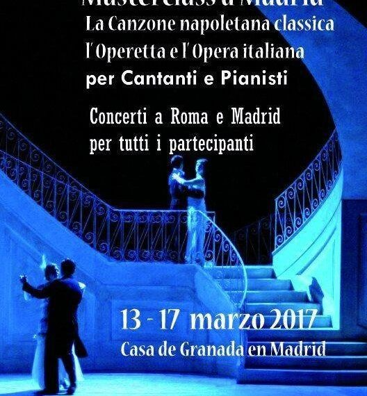 """Masterclass """"La canzone napoletana classica, l'Operetta e l'Opera italiana"""" para cantantes y pianistas."""