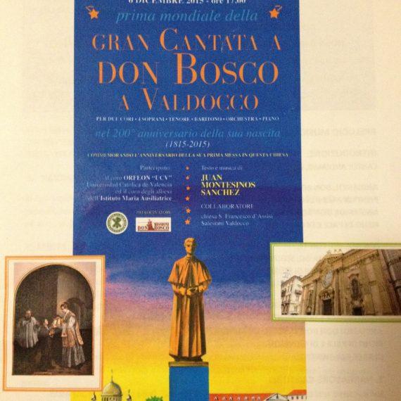 Concerto Gran Cantata a Don Bosco a Valdocco
