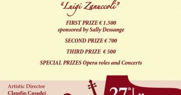 "15th International Competition ""Luigi Zanuccoli"" for Opera Singing"
