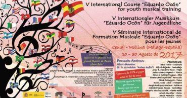 V Curso Internacional EDUARDO OCON de formación musical para jóvenes. Joven Orquesta Provincial de Málaga