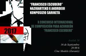 """X CONCURSO INTERNACIONAL DE COMPOSICIÓN PARA ACORDEÓN """"FRANCISCO ESCUDERO"""""""