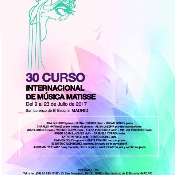 XXX Curso Internacional de Música Matisse. San Lorenzo de El Escorial