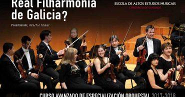 CURSO AVANZADO DE ESPECIALIZACIÓN ORQUESTAL: 1 plaza de oboe, 1 de trompeta y 4 de violín. Escola de Altos Estudos Musicais (EAEM)