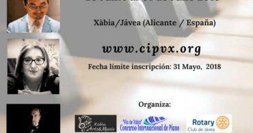 """VI Concurso Internacional de Piano """"Vila de Xàbia"""""""