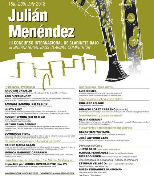XXIII Curso Internacional de Clarinete y III Concurso Internacional de Clarinete Bajo – Ávila