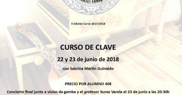 """Curso de Clave y bajo continuo. Curso internacional de Música Antigua """"Manises Antigua"""""""