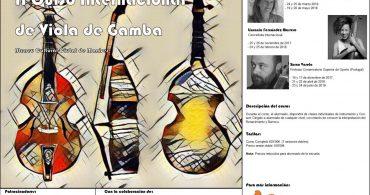 """Curso de Viola da Gamba con Xurxo Varela. Curso Internacional de Música Antigua """"Manises Antigua"""""""