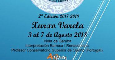 Curso de Viola da gamba con Xurxo Varela – Manises Antigua