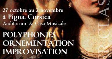 Curso de ornamentación e improvisación en la música antigua. Accademia Fonti e Memorie, Córcega
