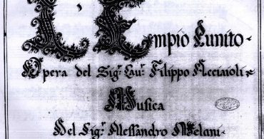 Audiciones para varios roles de la ópera L'Empio Punito en Pisa