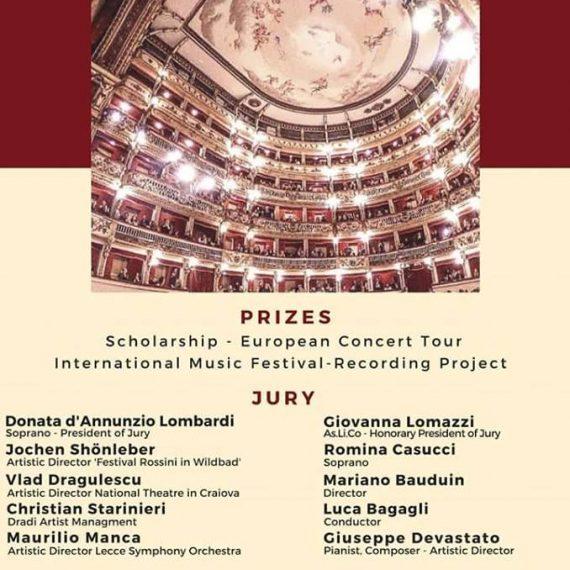 """Concurso Internacional de canto """"The Neapolitan Masters"""""""