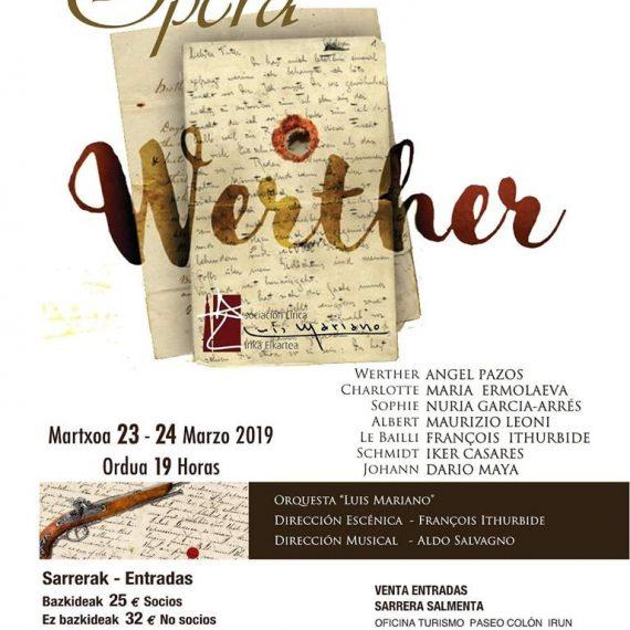 OPERA WERTHER – J. Massenet