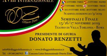 18° Concorso Lirico Internazionale Ottavio Ziino Roma 2019