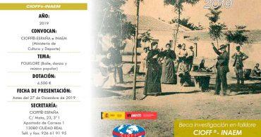 Beca de investigación en folklore CIOFF-INAEM 2019
