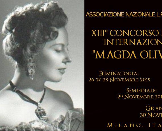 """XIII Concurso Lírico Internacional """"Magda Olivero"""""""