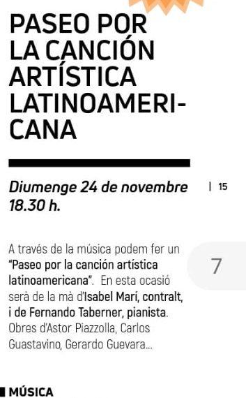 Un Paseo por la Canción Artística Latinoamericana
