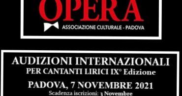 Audiciones para cantantes de Ópera en Padua